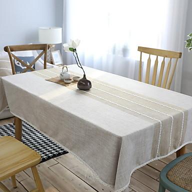 Współczesny PVC / Bawełna Kwadrat Obrusy Geometryczny Dekoracje stołowe 1 pcs
