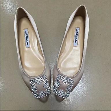 Bout Bourgogne pointu Rouge Femme Talon Soie Ballerines Chaussures Plat Vert Eté Confort 06693853 xnPU08q