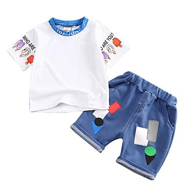 Bebelus Unisex Mată Manșon scurt Set Îmbrăcăminte