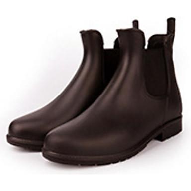 Cuero 06684603 Marrón Negro Botas Mujer Tacón PVC de lluvia Zapatos Otoño Botas Bajo 47qBPOfwq