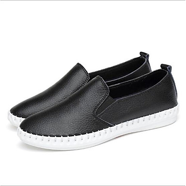Women's Shoes Leather Spring & Summer Comfort Loafers & Slip-Ons Flat Heel  Round Toe