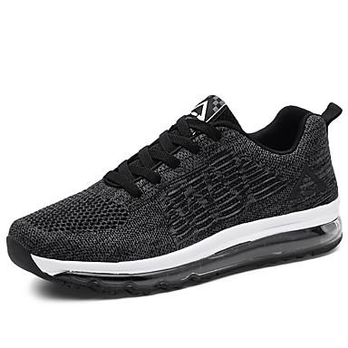 Bărbați Tul Vară Confortabili Adidași de Atletism Alergare Negru / Albastru Închis / Gri Deschis