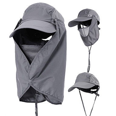 9eddcd5c57bf5 Hiking Cap Flap Hat Sun Hat Windproof UV Resistant Breathable 360° Solar  Protection Spring Summer Removable Neck   Face Flap Cover ...