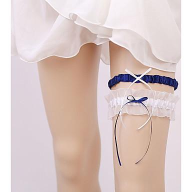 Șifon Satinat Stil Vintage Nunta Garter Cu Eșarfe / Panglici Jartiere Nuntă / Party & Seară