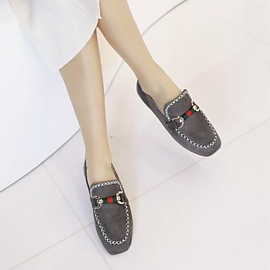 Gris rond Noir Printemps Plat Talon Femme Beige Automne Confort 06656238 Bout Ballerines Boucle Similicuir Chaussures qnw1PwOz