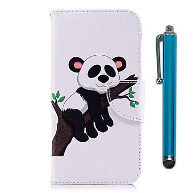 Maska Pentru Sony Xperia XA2 / Xperia L2 Portofel / Titluar Card / Cu Stand Carcasă Telefon Panda Greu PU piele pentru Xperia XA2 / Xperia L2