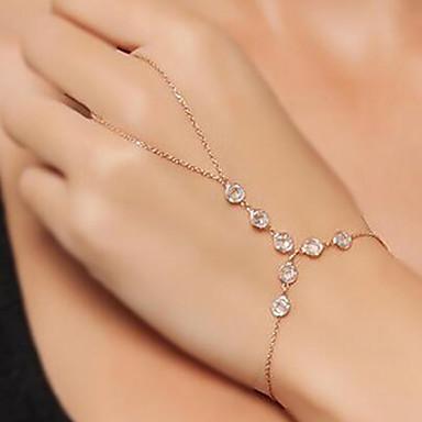 abordables Bracelet-Bracelets Bagues Femme Flottant Esclaves d'or dames Rétro Vintage Mode Bracelet Bijoux Dorée Forme Géométrique pour Rendez-vous Plein Air