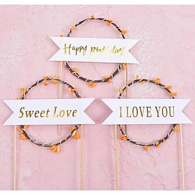 Vârfuri de Tort Temă Plajă / Temă Flurure / Nuntă Stilat / Romantic Hârtie Nuntă / Zi de Naștere cu Terminaţii 1pcs OPP