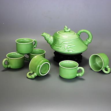 7 szt. Zestaw porcelanowych czajników żaroodpornych, 18 * 15 * 10; 6 * 6 * 4cm