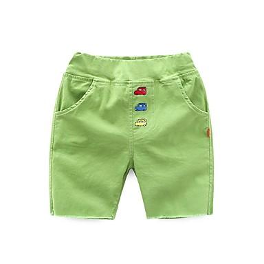 baratos Calças para Meninos-Bébé Para Meninos Activo Diário Sólido Listrado Estampado Calças Branco