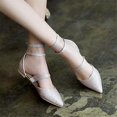 4834ffe6e1efa ... Personnalisées Violet Claire été pointu Argent 06689409 Chaussures Or  Talon Printemps Matières Plat Ballerines Confort Femme ...