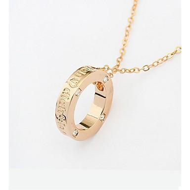 Pentru femei Coliere cu Pandativ - femei, Modă Auriu 40+5 cm Coliere Bijuterii 1 buc Pentru Școală, Stradă