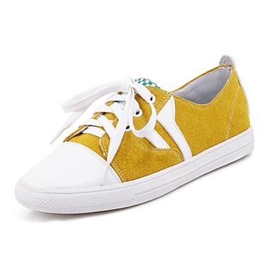 Paseo Zapatillas Confort redondo Zapatos Tacón deporte Dedo Rosa Amarillo Plano Mujer 06713935 Primavera Verde Sintético de verano n8WXSXq7