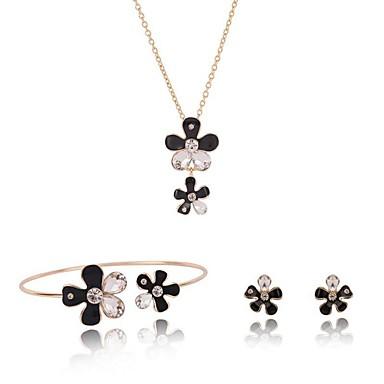 Pentru femei Geometric Set bijuterii - Floare Dulce, Modă Include Auriu Pentru Stradă / Ieșire