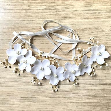 Imitație de Perle / Material Textil / Sârmă de cupru Banderolele cu Imitație de Perle / Panglici / Flori 1 Bucată Nuntă Diadema