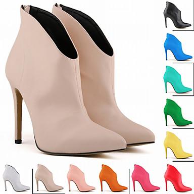 à Mode Femme Bottes Bout pointu Demi Bottine Aiguille Botillons hiver Bottes Talon Botte Chaussures Rose la Polyuréthane 06713930 Automne rwFrxf