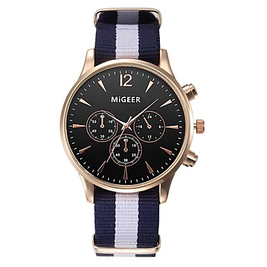 cheap Women's Watches-Men's Women's Casual Watch Fashion Watch Quartz Black / White / Blue 30 m Chronograph Analog Elegant - Blue Black / White Black / Blue One Year Battery Life / Stainless Steel / SSUO LR626