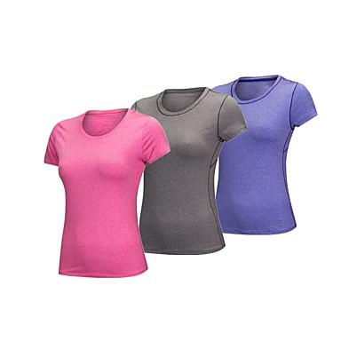 BARBOK Pentru femei Stil Nautic Μπλουζάκι βάση Sport Spandex Sveter Pentru Yoga, Fitness, Sală de Fitness Manșon scurt Îmbrăcăminte de Sport Respirabil, Uscare rapidă, Design Anatomic Strech Gri