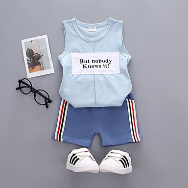 Copii / Copil Băieți Activ / De Bază Zilnic / Concediu Imprimeu Imprimeu Fără manșon Regular Bumbac / Acrilic Set Îmbrăcăminte Portocaliu 100