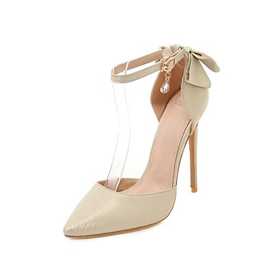 bd9d0c4acb Women's Shoes Leatherette Spring & Summer Comfort Heels Stiletto Heel  Pointed Toe Bowknot / Buckle Silver / Red / Pink / Party & Evening