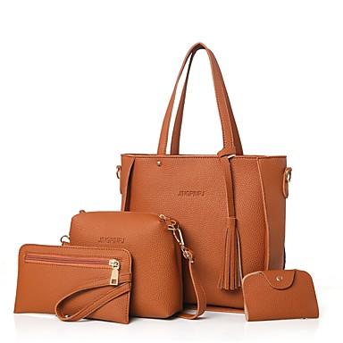 cd373041dd7a Női Táskák PU táska szettek 4 db erszényes készlet Cipzár Arcpír rózsaszín  / Szürke / Barna / Táskészletek