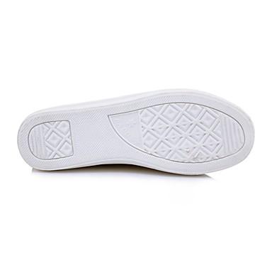 de redondo PU Amarillo Confort Tacón Plano Mujer verano Dedo Negro Cristal Primavera deporte Paseo 06701903 Zapatillas Blanco Zapatos 7wBqSBY