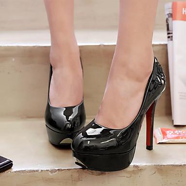 à Femme Automne Confort 06682638 Rouge Rivet rond Aiguille Noir Blanc Polyuréthane Chaussures Nouveauté Talon Bout Talons Chaussures PVC rx1nAwI01