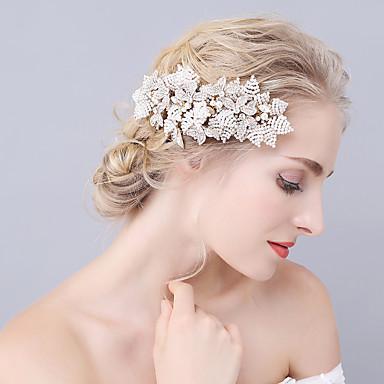 abordables Coiffes-Imitation de perle Peignes avec Cristaux / Stras 1 Pièce Mariage / Fête / Soirée Casque