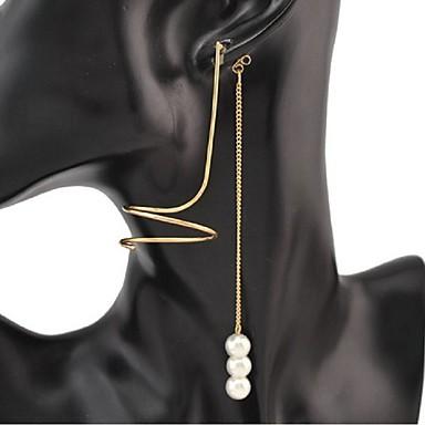 Frędzel / Wzór geometryczny / Żyrandol Kolczyki wiszące - Perłowy Vintage, Słodkie, Modny Gold / Silver Na Impreza / Urodziny