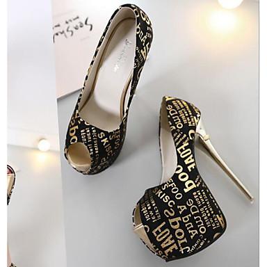Chaussures Basique Or Aiguille Automne Tulle à Escarpin Chaussures Confort Vin Talons 06655439 Noir Femme Talon dPXHqd