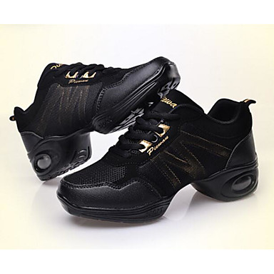 Mode—Femme Baskets de Danse Tulle Basket Talon Cubain Chaussures de de de danse Blanc / Noir et Or / Noir / Rouge / Utilisation / Entra?neHommes t 21a9bc