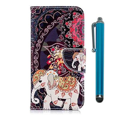 Maska Pentru Sony Xperia XA2 / Xperia L2 Portofel / Titluar Card / Cu Stand Carcasă Telefon Elefant Greu PU piele pentru Xperia XA2 / Xperia L2