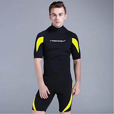 Bărbați Neopren Scurt 3mm CR Neopren Costume de scafandru Design Anatomic Manșon Jumate Fermoar Spate Grafic Vară