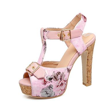 Femme Confort Printemps Similicuir Evénement Bleu été Soirée ouvert Chaussures 06669323 Talon Bout Bottier Rose Sandales amp; Noir rqnrw1