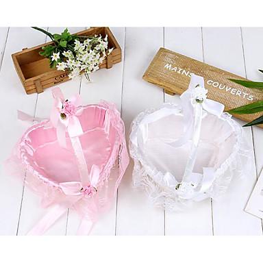 """billige Blomsterkurver-Blomsterkurv Sateng 2 3/4"""" (7 cm) Perle / Satengblomst / Blonder 1 pcs"""