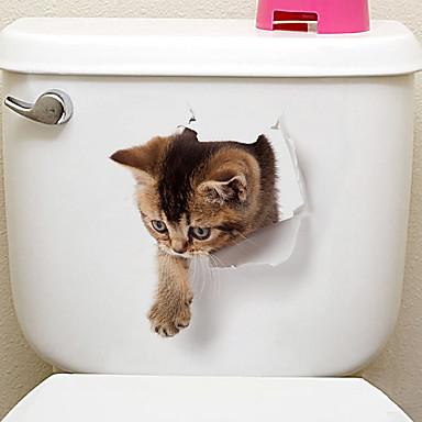 Køleskabs klistermærker Toilet klistermærker - Animal Wall Stickers Dyr 3D Stue Soverom Baderom Kjøkken Spisestue Leserom / Kontor