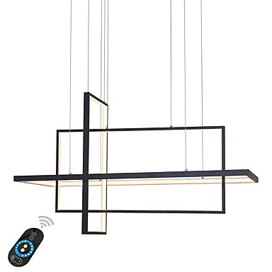 UMEI™ Linear Chandelier Ambient Light Painted Finishes Aluminum Dimmable 110-120V / 220-240V Warm White / White / Dimmable With Remote Control LED Light Source Included / LED Integrated / FCC