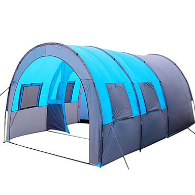8 person Tunnel Tent Family Tent Outdoor Lightweight Windproof Breathability Single Layered Poled Tunnel C&ing Tent Three Rooms 1000-1500 mm for Fishing ...  sc 1 st  LightInTheBox & Cheap Tents Canopies u0026 Shelters Online | Tents Canopies u0026 Shelters ...