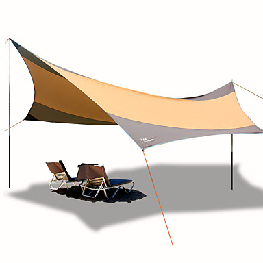 În aer liber Adăpost & Prelată Σκηνή για κάμπινγκ Rezistent la Vânt Rezistent la UV Stâlp 1000-1500 mm Cort de campare pentru Plajă Camping / Cățărare / Speologie Îmbrăcăminte Oxford 560*550 cm