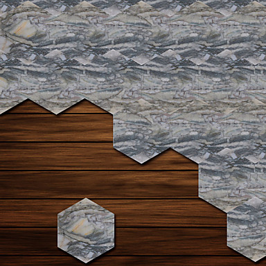 Decorative Wall Stickers - 3D Wall Stickers Shapes / 3D Living Room / Bedroom / Bathroom