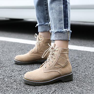 Cuir Chaussures 06731596 Bottes Amande Femme Noir Confort Printemps Bas Talon Aw5wqdF