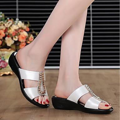 Azul Media Amarillo Confort 06764820 abierta Mujer plataforma Negro flops flip Zapatos PU y Zapatillas Puntera Verano qn1BZ6W