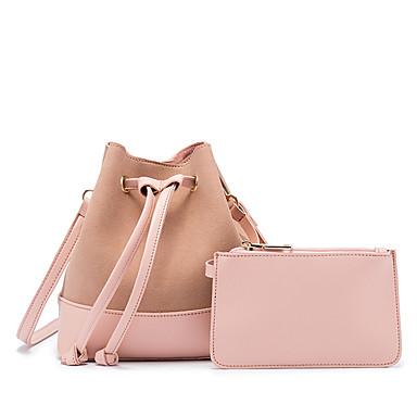 Pentru femei Genți PU Seturi de sac Set de pungi pentru 2 buc Buton Gri / Fucsia / Maro