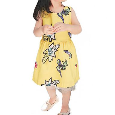 Copii Fete Floral Fără manșon Rochie
