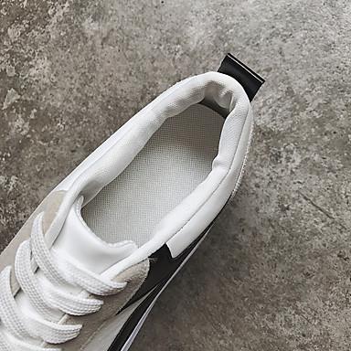 Zapatillas Negro PU Rojo Verano Zapatos deporte redondo Tacón Plano Tela Confort Mujer 06766137 de Dedo 4wZXxqSOO