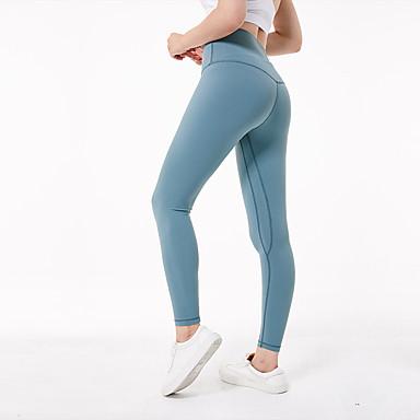 7d99ffb3c0d30 Women's Yoga Pants Fuchsia Ink Blue Light Green Sports Spandex High Rise  Tights Leggings Zumba Pilates