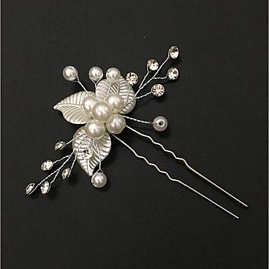 Perly / Slitina Spona do vlasů / Hair Stick s Imitace perel Jeden díl Svatební / Zvláštní příležitosti Přílba