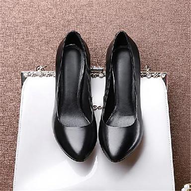 Talon Cuir pointu à Noir Talons Bout Chaussures 06770288 Aiguille Printemps Basique Escarpin Femme Chaussures été 5z7xwwAT