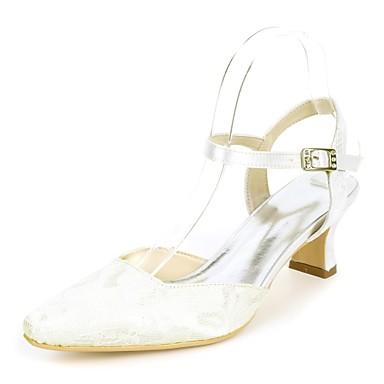 Chaussures 06752175 Basique Heel mariage Mariage Bleu Femme Chaussures Boucle amp; Ivoire Escarpin Vert carré Evénement Block de Printemps Soirée Bout été Satin FqwYw8Xv1
