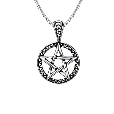 collier homme pentacle
